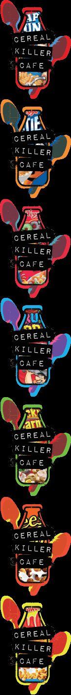 Cereal Killer Cafe. Loads of cereals. Brick lane/Shoreditch.