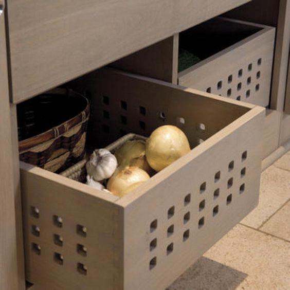 kitchen drawer organization ideas open for onions and potatoes to breath storage ideas. Black Bedroom Furniture Sets. Home Design Ideas