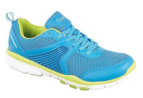 Ladies Annabelle GT8913 Shoes Blue Yellow UK 4 - http://on-line-kaufen.de/zapf-creation/4-uk-neue-damen-sport-schuhe-frauen-casual-outdoor