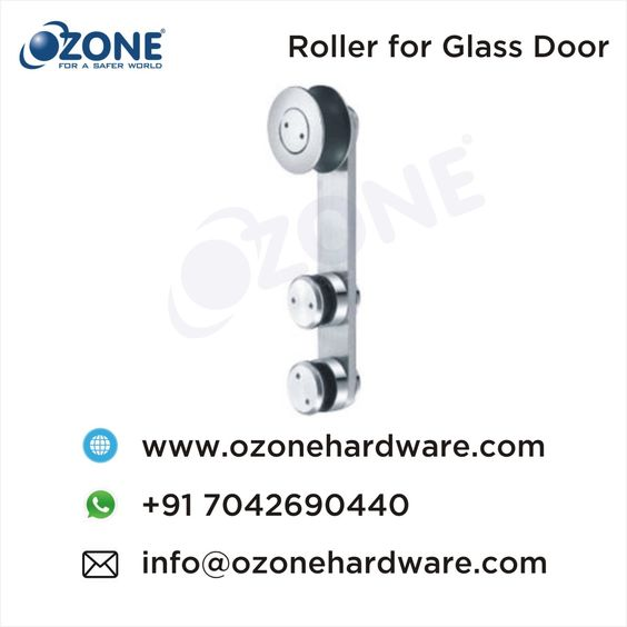 Roller For Glass Door Sliding System 77 Sliding System Roller With Slots Suitable For Glass Thickness 10 12mm Sui Glass Door Stainless Steel Grades Glass