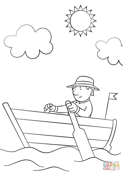 12 Row Boat Coloring Page Coloring Pages Row Boat Coloring Pictures