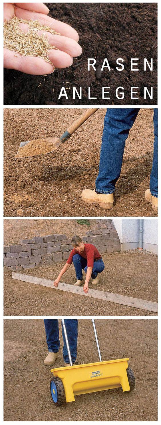 Den rasen f r deinen garten kannst du selbst anlegen unsere schritt f r schritt anleitung zeigt - Garten selbst anlegen ...