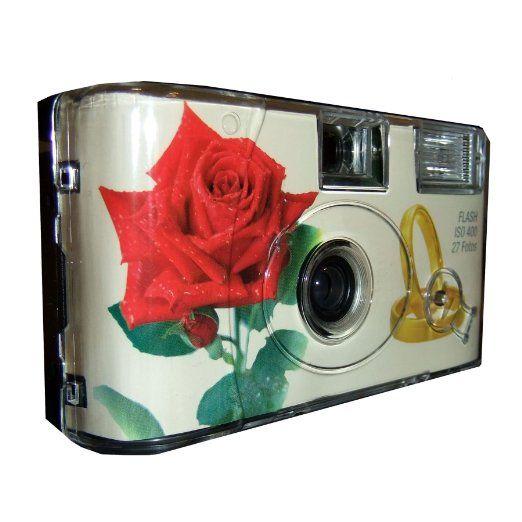 """'10 x Photo porst mariage Caméra/Appareil photo jetable """"Rose rouge + Anneaux (Notice d'utilisation en allemand, avec flash et piles, 27 Photos, ISO 400 Fuji chacune): Amazon.fr: Photo & Caméscopes"""