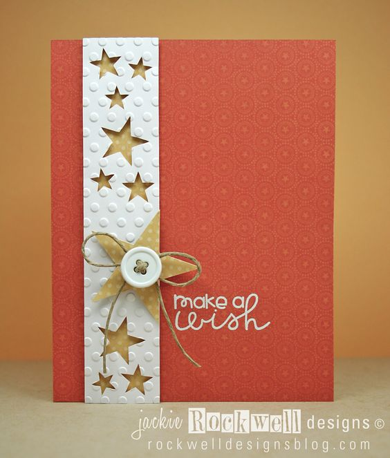handmade greeting card ... clean and simple design ... rusty red ...