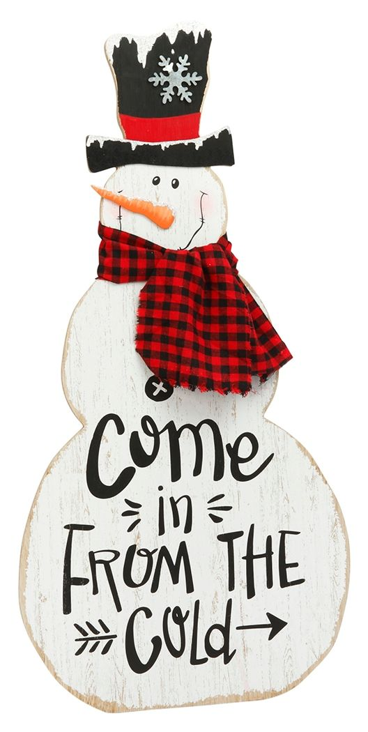 Winter Snowman Stencil Frosty Black Hat Scarf Country Primitive Shape Easy Sign