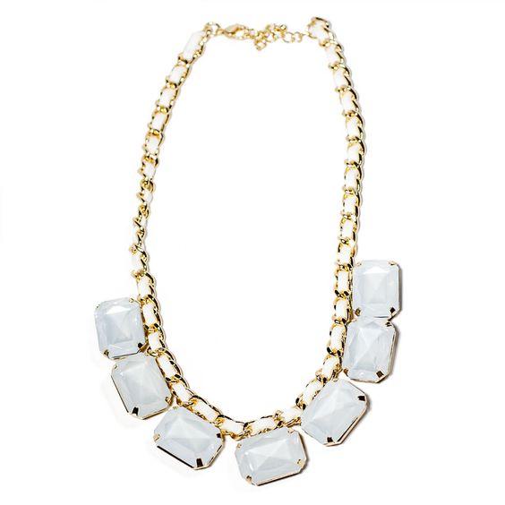 Cheap & So Chic Gabriella Statement Necklace White
