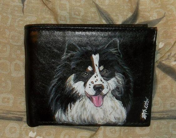 Finnish Lapphund Dog Custom Painted Leather by daniellesoriginals, $30.95