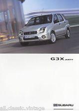 SUBARU - Justy G3X prospekt/brochure/folder Dutch 2003 | eBay