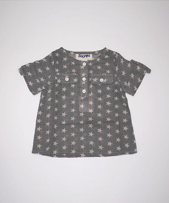 Siaomimi Henley Shirt (Charcoal Star)
