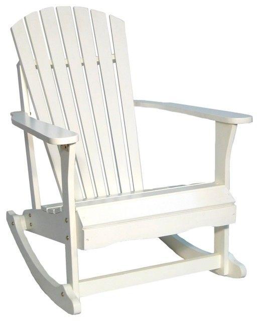 White Wooden Rocking Chair Mit Bildern Schaukelstuhl
