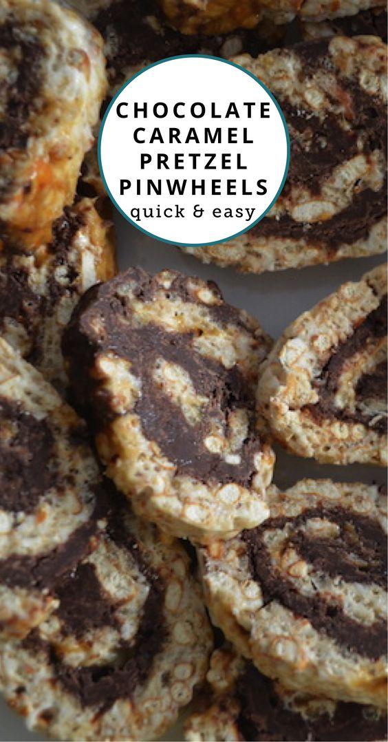 How to Make Chocolate Caramel Pretzel Pinwheels: