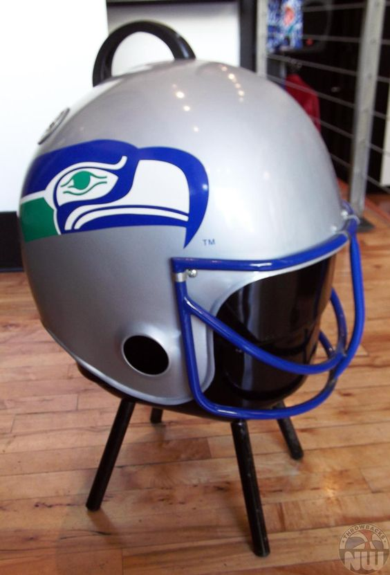 Football Helmet Grill : Bbq grill seattle seahawks and on pinterest