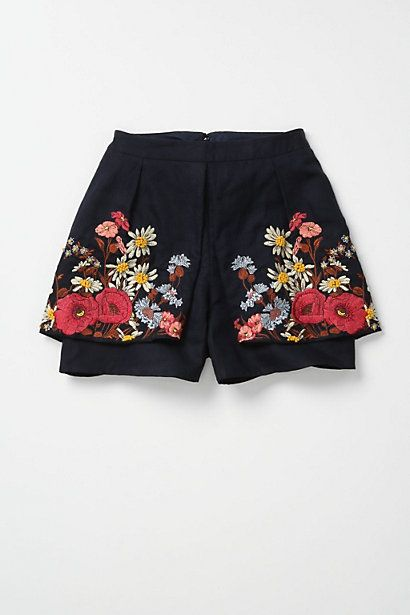 embroidered shorts- swear these are the ones from pitch perfect!