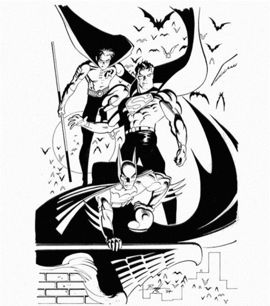 Batman Robin Superman Coloring