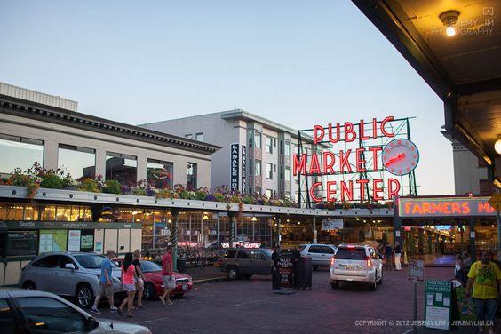 """The entrance of Seattle's Pike Place Market."" #2DaysInSeattle 2012 -- via JeremyLim.CA"