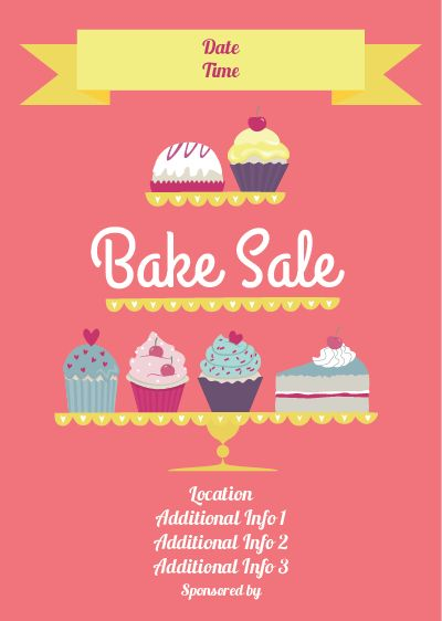 free-bake-sale-flyer-template-cake - could TOTALLY see customizing ...