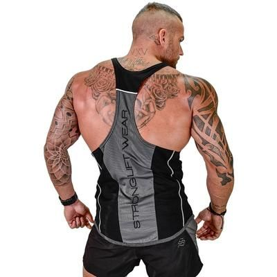 Men Summer Sleeveless Shirt Tank Tops Bodybuilding Sport Fitness Gym Workout Vest