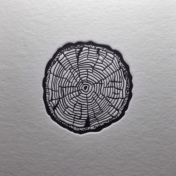 """""""Selah"""" ~ Be still and keep the faith. Growth is slow, but deeply rooted from the center like rings on a tree. Biblical Nature Tattoo idea"""