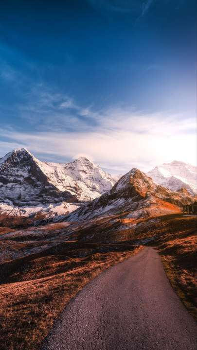 Download Iphone Xs Iphone Xs Max Iphone Xr Hd Wallpapers Mountains Road Asphalt Peaks Snow Sky S Mountain Wallpaper Nature Photography Iphone Wallpaper