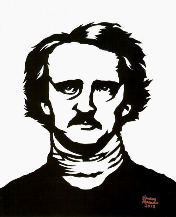 Hand Cut Edgar Allan Poe Paper Cutting Framed 8 X 10, Goth Style :: Miscellaneous Goth :: MoreThanHorror.com