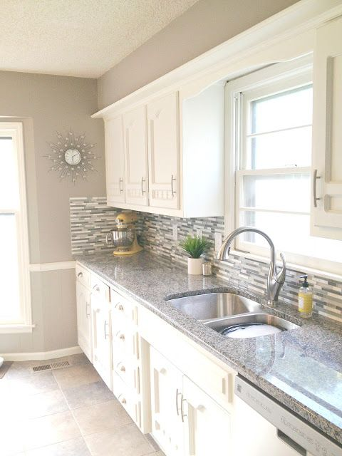 Kitchen renovations kitchens and home renovation on pinterest for Kitchen wall colors with white cabinets