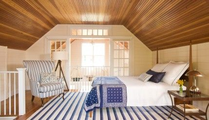 Fresh American Attic Bedroom