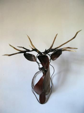 Something artistic to do with all the antlers we have!    Original pinner: This is cool. vía Copper Pipe Sculpture - Annawili Highfield