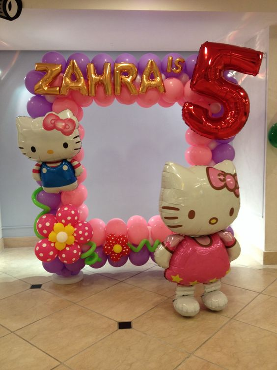hello kitty balloon frame