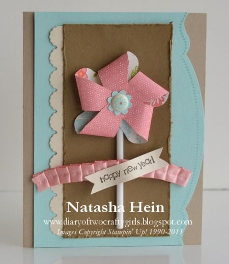 Diary of Two Crafty Girls: Stocking Builder Punch Pinwheel Card