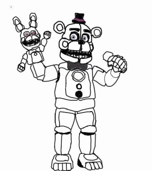 Funtime Freddy Coloring Page Best Of Funtime Freddy No Color By