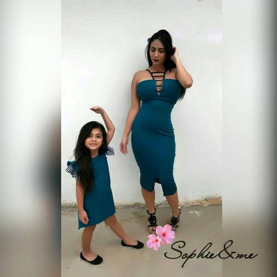 Outfits mamá e hija disponible en tienda. Tallas: S,M,L. 2t/3t/4t. 2×1 18.000bfs #Maracaibo #Venezuela #Oferta #Moda #Vestidos #mamaéhija.