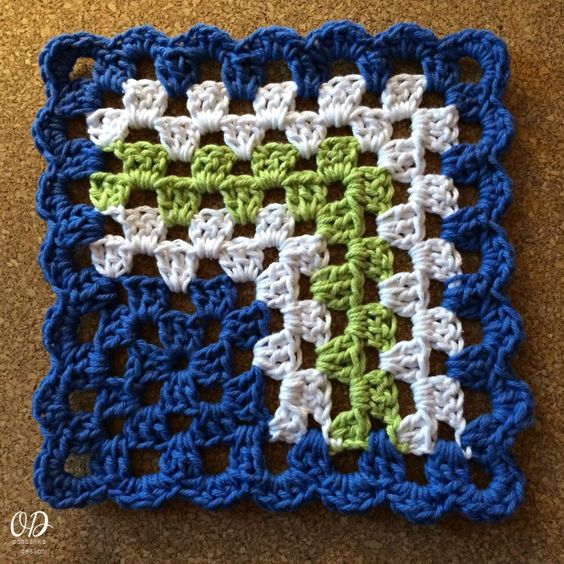 Crochet Granny Square Dishcloth Pattern : Make a beautiful mitered granny square dishcloth with this ...