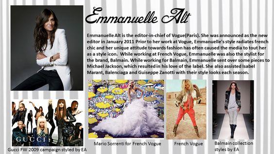 Emmanuelle Alt : Present Fashion Stylist