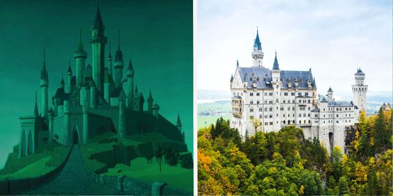 13 Breathtaking Real Life Places That Inspired Disney Movies Seventeen Com Sleeping Beauty Castle Disneyland Movie Place Disney Movies
