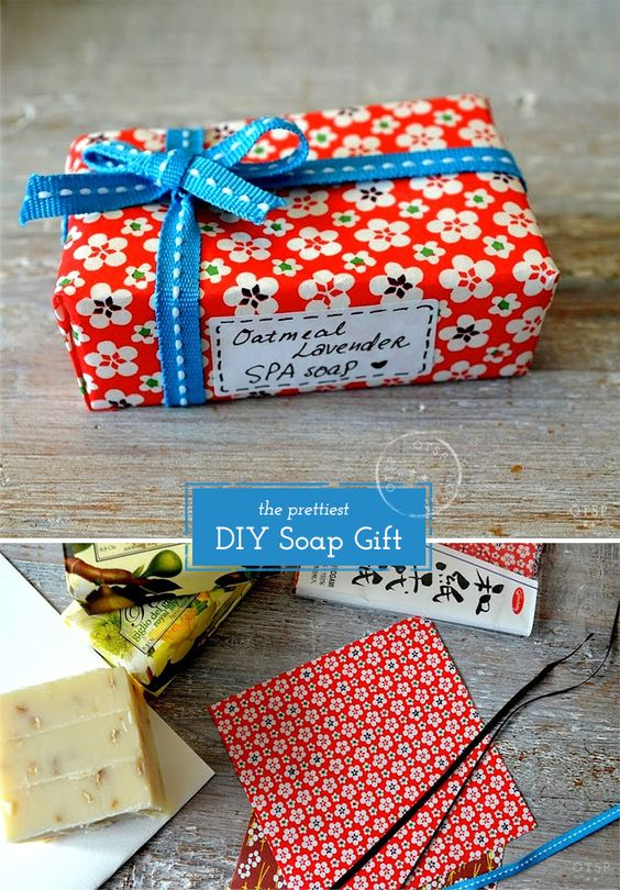 The Prettiest DIY Soap Gift - Origami paper + organic soap ♥ When in doubt, put a bow on it!