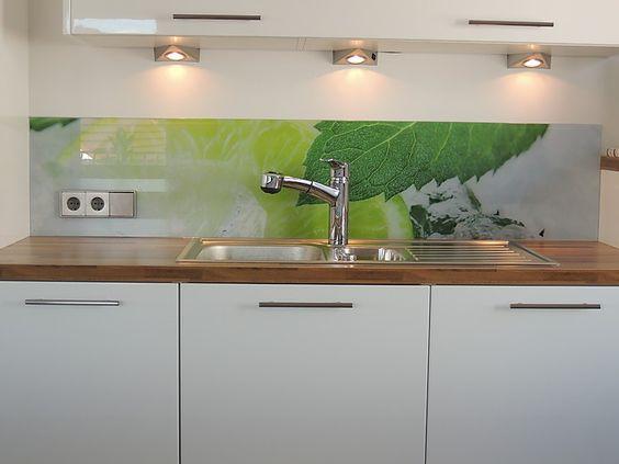 Kochinsel Mit Bora Professional Glas Rückwand Mit Individuellem - spritzschutz folie k che