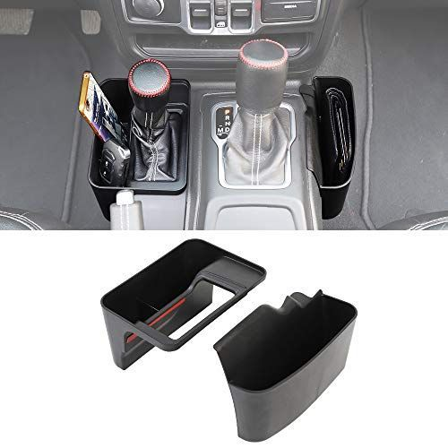 Savadicar Jl Geartray Gear Shift Console Side Storage Box Auto Transmission Side Organizer Tray For 2018 2 In 2020 Jeep Gladiator Jeep Wrangler Accessories Wrangler Jl
