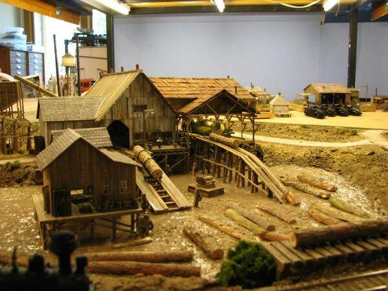 Incredible lumber mill   RR Scenery   Pinterest   Lumber mill