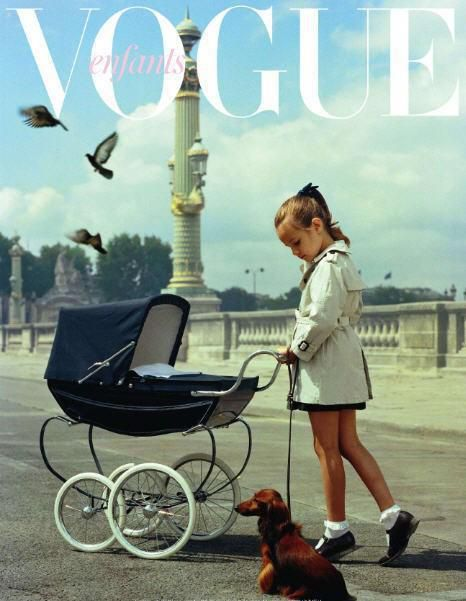 If I had a nickel for every time Quinoa took the dog and pram for a walk and ended up on the cover of a fashion magazine...