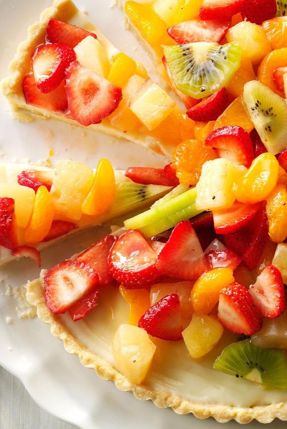 It takes a little time to make, but this tart is absolutely marvelous, especially in summer when fresh fruit is in abundance. —Claire Darby, New Castle, Delaware |  White Chocolate Fruit Tart Recipe from Taste of Home