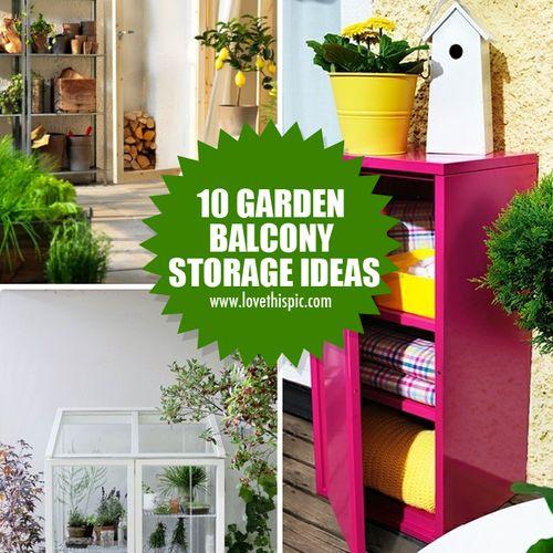 10 garden balcony storage ideas gardens storage ideas for Balcony storage