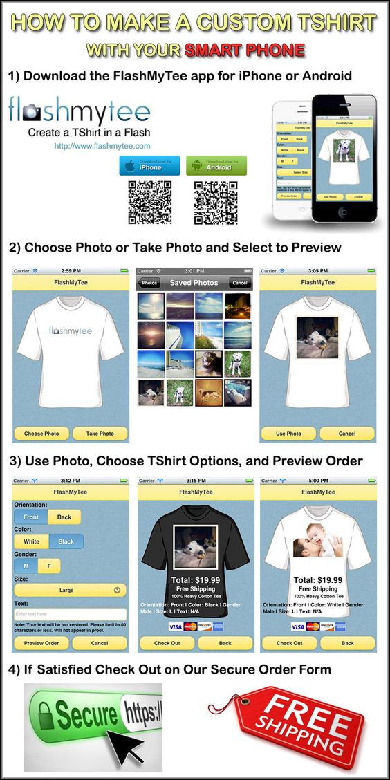 Make a Custom TShirt With Your Smart Phone - How To