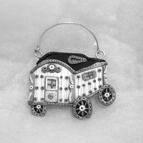 Gypsy wagon plaque/ornament  glow in the dark by Wishcraft2013, £8.00