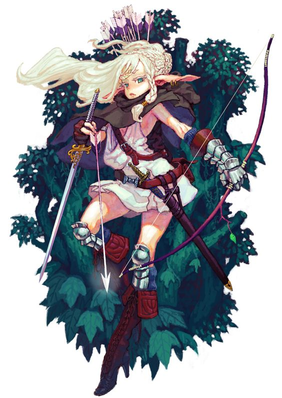 pixivファンタジア/エルフ族の女戦士