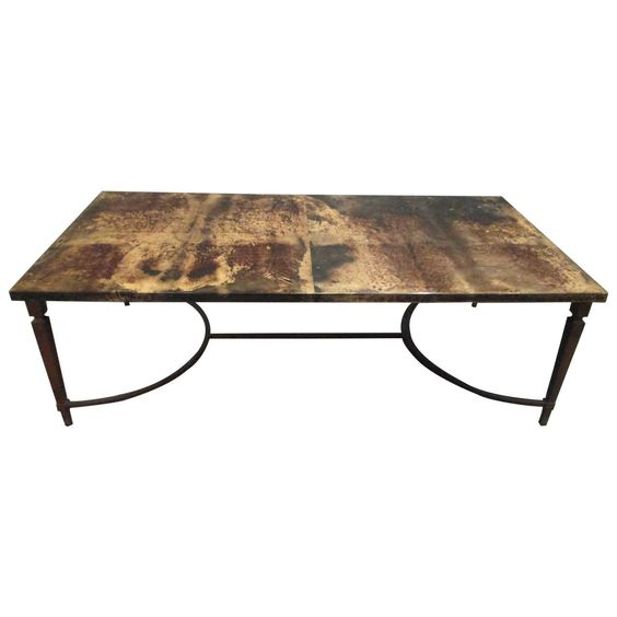 Goatskin Coffee Table by Aldo Tura   From a unique collection of antique and modern coffee and cocktail tables at https://www.1stdibs.com/furniture/tables/coffee-tables-cocktail-tables/