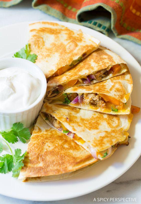 Chicken quesadillas, Quesadillas and Quesadilla recipes on Pinterest