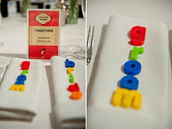 Have your guest names double up as wedding favours on the tables with these magnetic letters