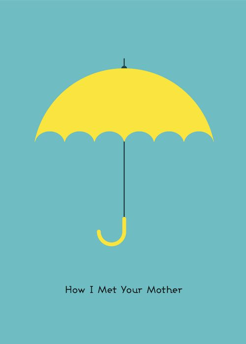 Love the simplicity of this How I Met Your Mother poster. 30+ Fantastic TV Fan Artworks in Vector | Vectortuts+: