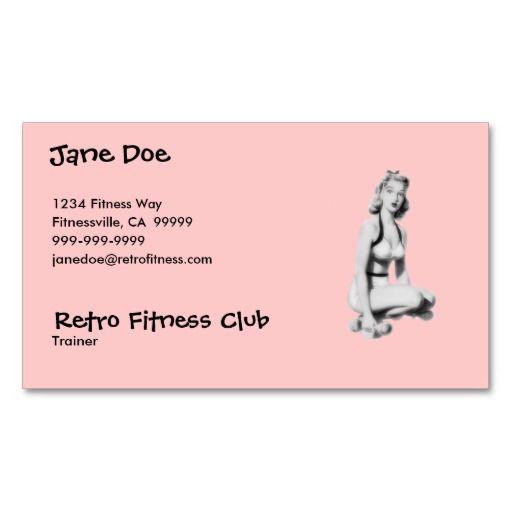 Retro Fitness Business Card Zazzle Com