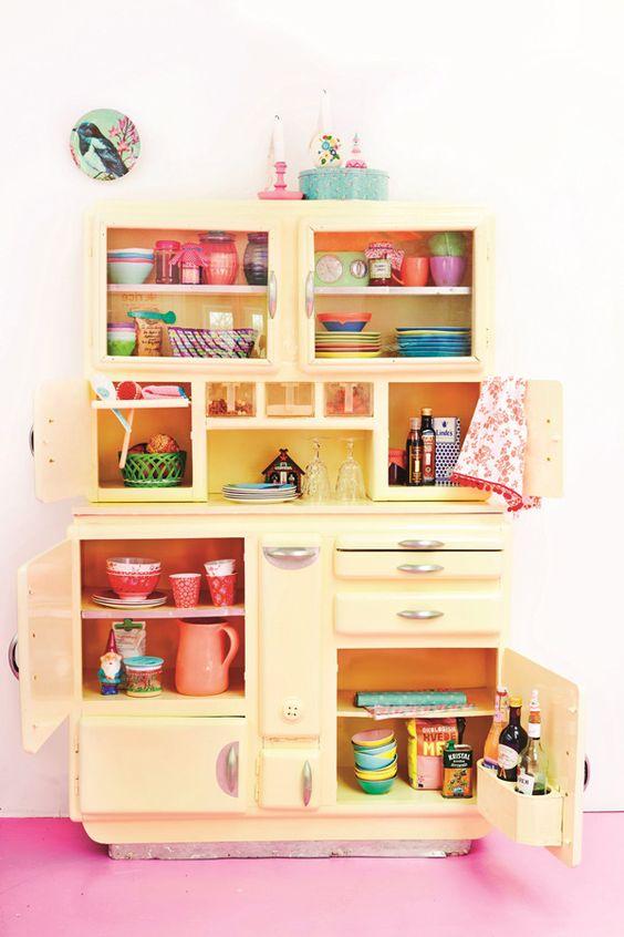 colourful kitchen bright melamine happy home